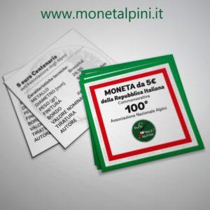 moneta alpini brochure informazioni vendita