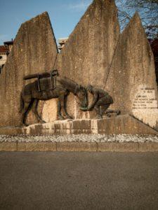 Moneta Alpini monumento mulo Belluno